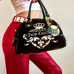 Vintage Royal Juicy Couture Bowler handbag.